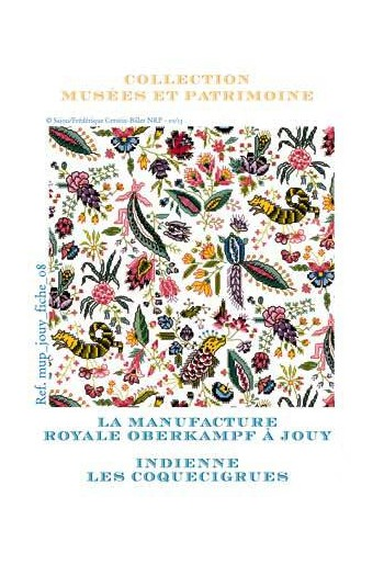 "Cross-stitch pattern chart: ""Coquecigrues, toile de Jouy"