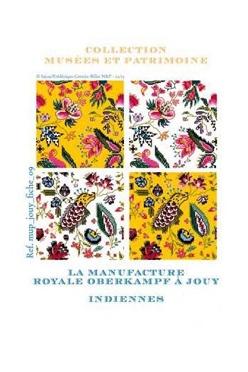 Cross-stitch pattern chart: indiennes, toile de Jouy