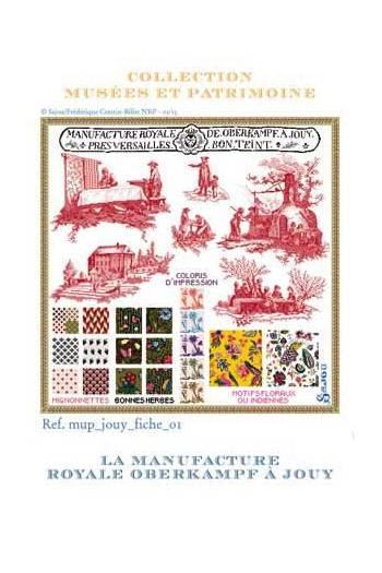 Sajou cross-stitch kit: Toiles de Jouy at Oberkampf Manufacture