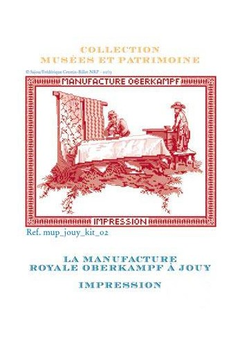 Cross stitch pattern kit: printing of toile de Jouy