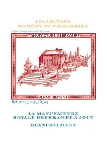 Cross stitch pattern kit: whitening the toile de jouy cloth