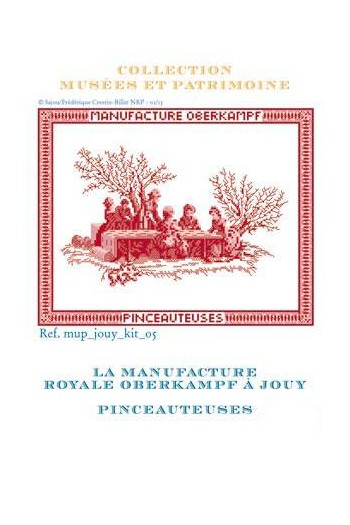 Complete cross stitch kit: the Toile de Jouy painting ladies