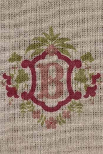 Sajou letter B bluebells traditional embroidery print
