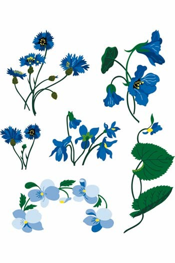 Sajou downloadable embroidery motifs A4 small flowers colour suggestions