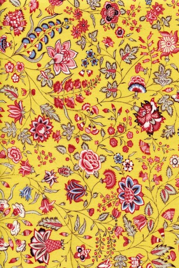 50 x 55cm swatch indienne fabric motif 6 on tea