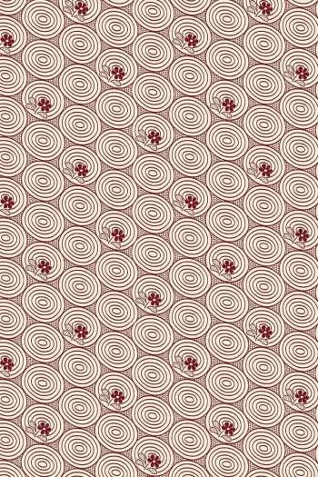 Coupon tissu Sajou enduit Travaux Manufacture bordeaux coordonné 1