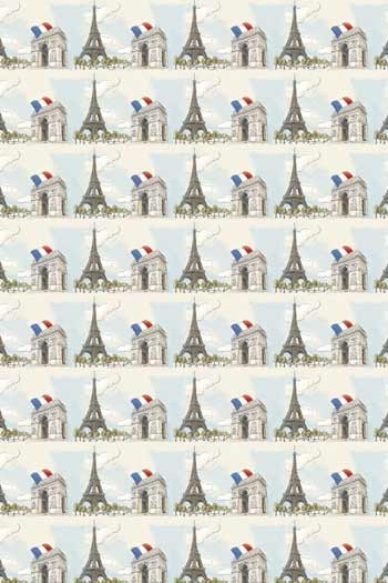 Swatch coated Sajou cotton fabric Ma belle ville de Paris coordinate 1