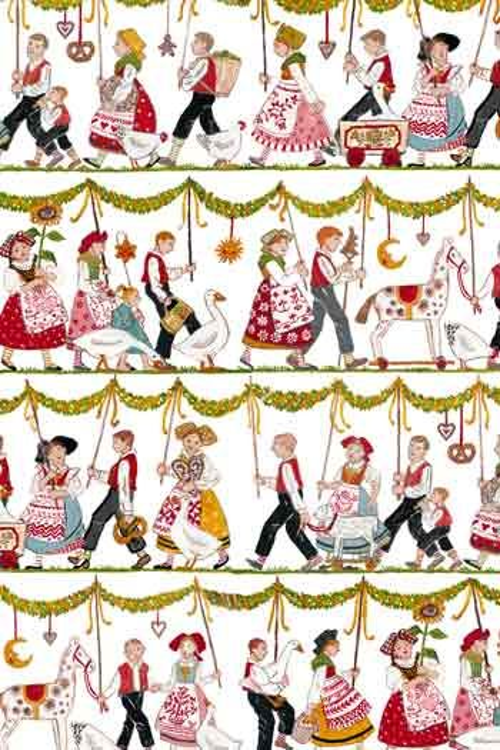 Sajou Farandole alsacienne fabric swatch main motif