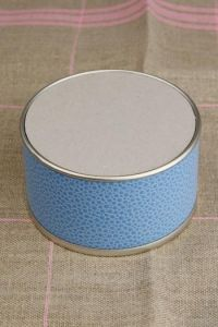 Box to embroider galluchat style blue large model