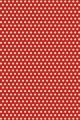 Sajou red Damask fabric coordinate 2 - polka dot on a red base