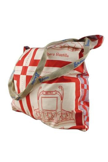 Tote bag Sajou Plaid Paris - tissu principal Monuments de Paris