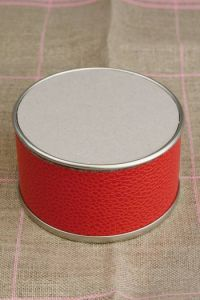 Box to embroider  Red large model