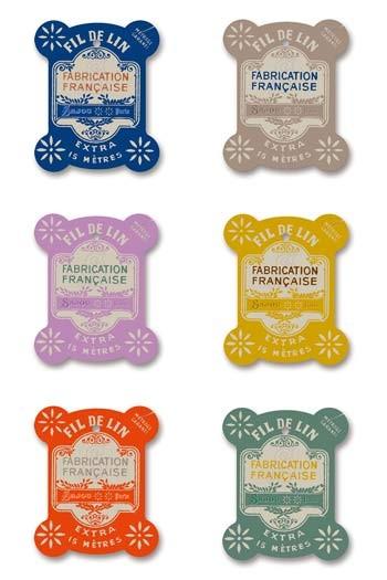 Six Sajou thread cards Vire model Vintage