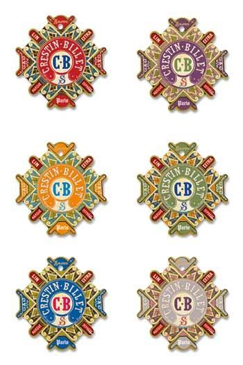 Six cartes à fil Sajou modèle Carentan - Crestin-Billet