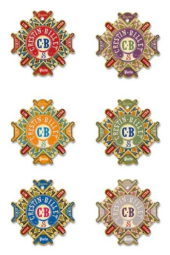 Six Sajou thread cards Carentan model Crestin-Billet