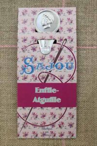 Needle threader Sewing - embroidery mauve card