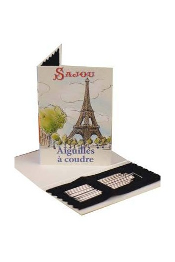 20 Sajou sewing needles - sizes 3, 5, 7 & 9 - Paris booklet