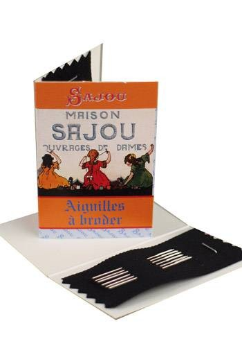 Six embroidery needles sizes 22, 24 & 26 - Sajou Little Girls sewing booklet