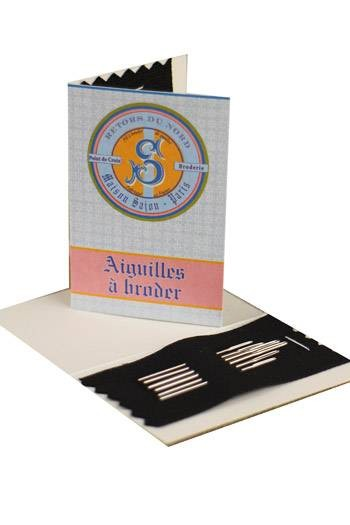 Six embroidery needles sizes 22, 24 & 26 - Retors du Nord booklet