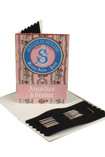 6 embroidery needles pink booklet