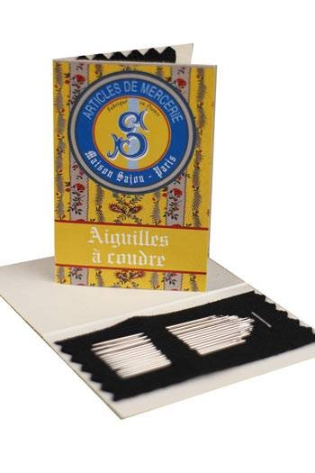 20 steel sewing needles yellow booklet