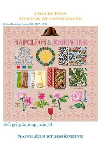Sajou cross-stitch pattern chart: Napoleon and Josephine