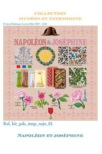 Sajou cross-stitch complete kit: Napoleon and Josephine