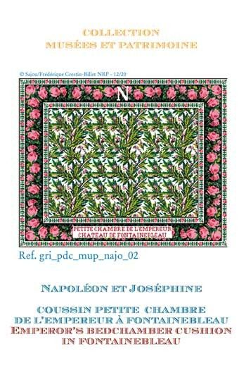 Sajou cross-stitch pattern chart: the Emperor's bedchamber cushion in Fontainebleau castle