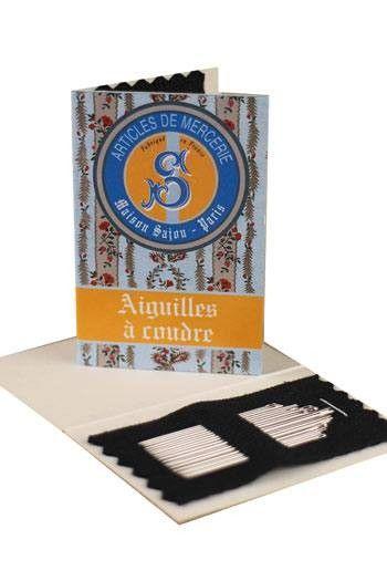 20 Nähnadeln Nr. 3, 5, 7, 9 Sajou-Heftchen - Blau