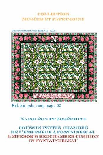Sajou cross-stitch complete kit: chart: the Emperor's bedchamber cushion in Fontainebleau castle