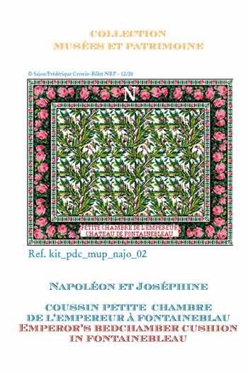 Kit de point de croix Sajou : le coussin de la chambre de l'Empereur au château de Fontainebleau