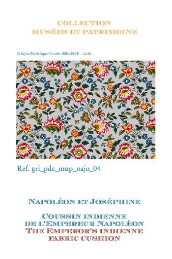 Sajou cross-stitch pattern chart: the Emperor's indienne fabric cushion