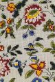 Detail of Sajou kit Emperor's campaign tent indienne fabric cushion