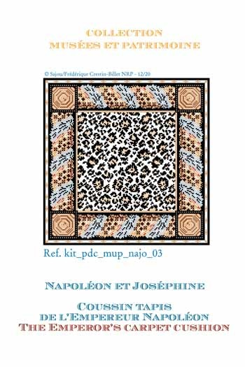 Sajou cross-stitch complete kit: chart: the Emperor's campaign tent carpet cushion