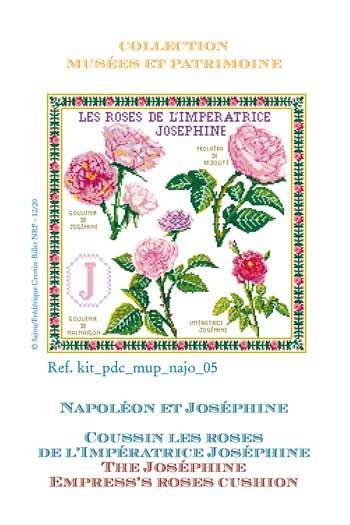 Kit de point de croix Sajou : les roses de l'impératrice Joséphine