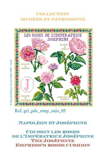Sajou cross-stitch pattern chart: the Empress Josephine's roses