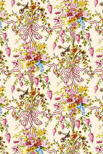 Sajou fabric swatch - The Queen's Bedchamber in Versailles Palace