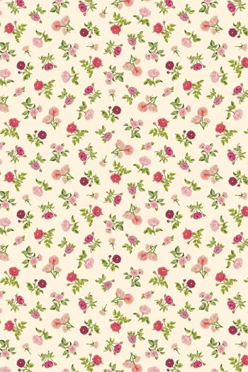 Sajou fabric with The Empress Josephine's small roses from the Malmaison Château