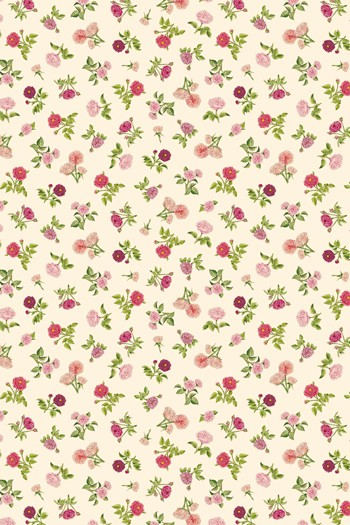 Sajou fabric swatch The Empress Josephine's small roses