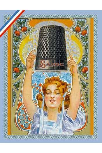 Carte postale Sajou Dés à coudre