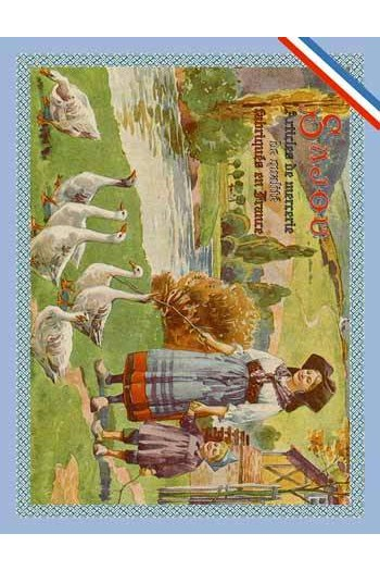 Carte postale Sajou Alsacienne gardant ses oies