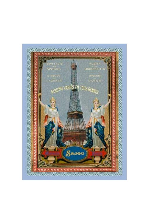 Sajou-Postkarte Eiffelturm