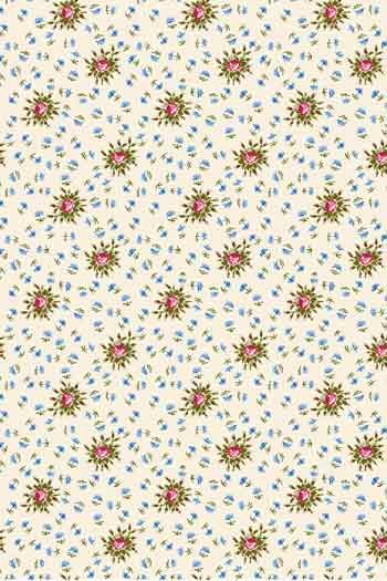 Swatch coated Sajou fabric Queen's Bedchamber Trianon