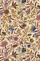 Sajou indienne fabric motif 14 on pale yellow base