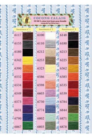 Calais Lace Thread Printed Colour Chart