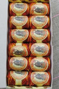 12 Calais Cocoons box variegated lace thread 6943 - Autumn