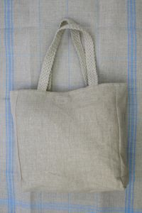 Bag to embroider  Natural 12 count linen