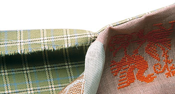 How to sew the backing fabric for the Sajou Chambord plaid